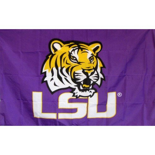 LSU Logo Polyester 3 x 5 ft. Flag by NeoPlex