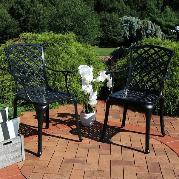 Middleham Patio Dining Chair (Set of 2) by Charlton Home Charlton Home