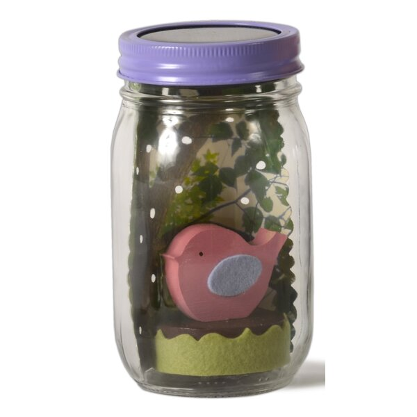Bird Mason Jar Solar Night Light by Tree by Kerri Lee