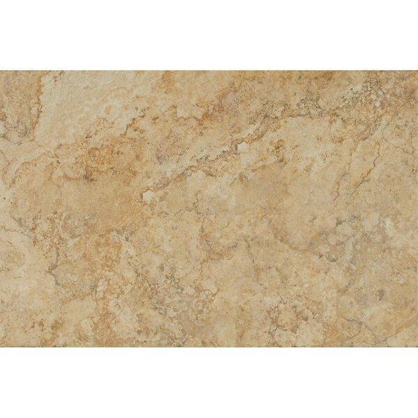 Forge Ink Jet Brushed Texture 13 x 20 Porcelain Tile in Gold by Bedrosians