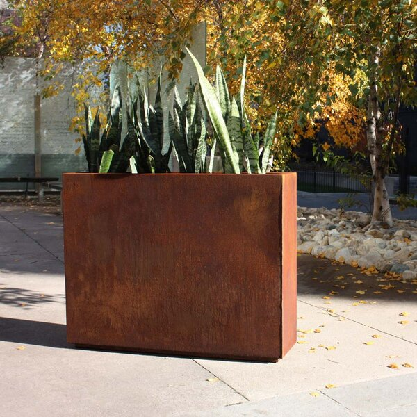 Metallic Series Corten Steel Planter Box by Veradek
