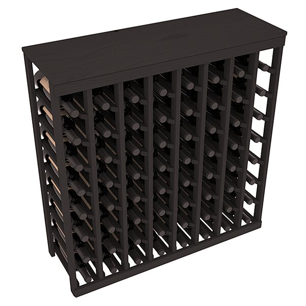 Karnes Pine 64 Bottle Floor Wine Rack by Red Barrel Studio