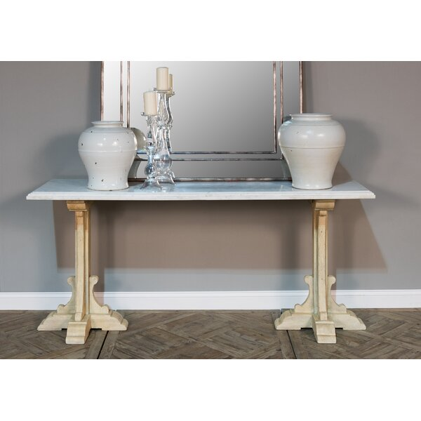 Hannah Marble Console Table By Rosdorf Park