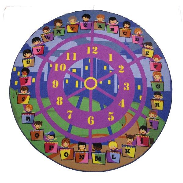 Fun Time Wheel of Fun Purple Area Rug by Fun Rugs