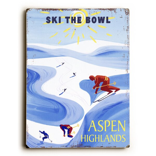 Ski the Bowl Vintage Advertisement by Artehouse LLC