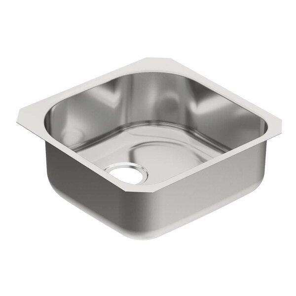 1800 Series 20 L x 20 W Single Bowl Kitchen Sink by Moen