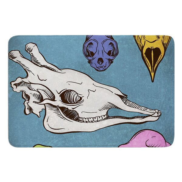 Skulls by Sophy Tuttle Bath Mat by East Urban Home