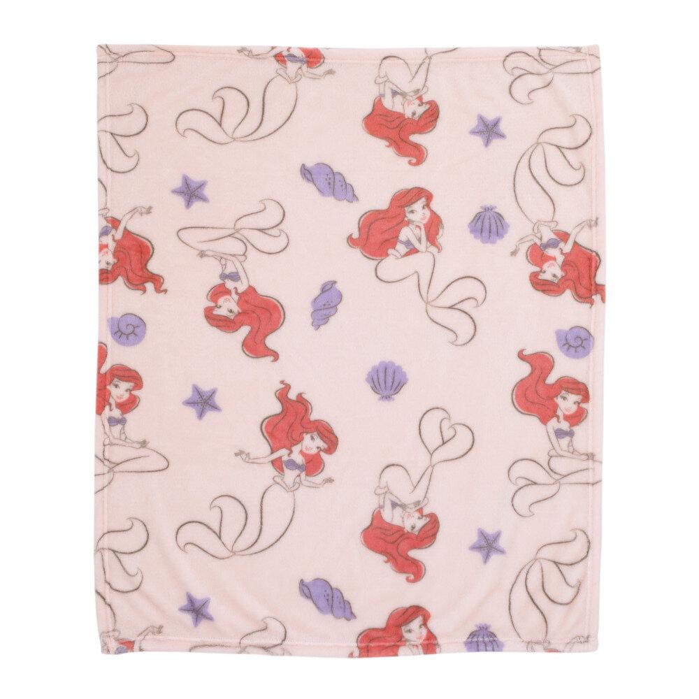 Disney The Little Mermaid Super Soft Ariel Starfish Seashell French Fiber Baby Blanket Wayfair