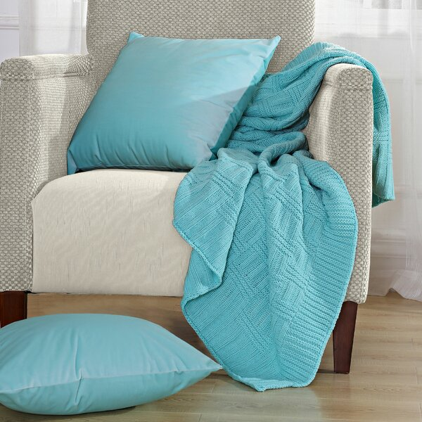 Cable Brooke Throw Blanket by BOON Throw & Blanket