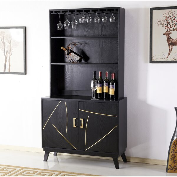 Trombley 2 Door Accent Bar with Wine Storage by Mercer41 Mercer41
