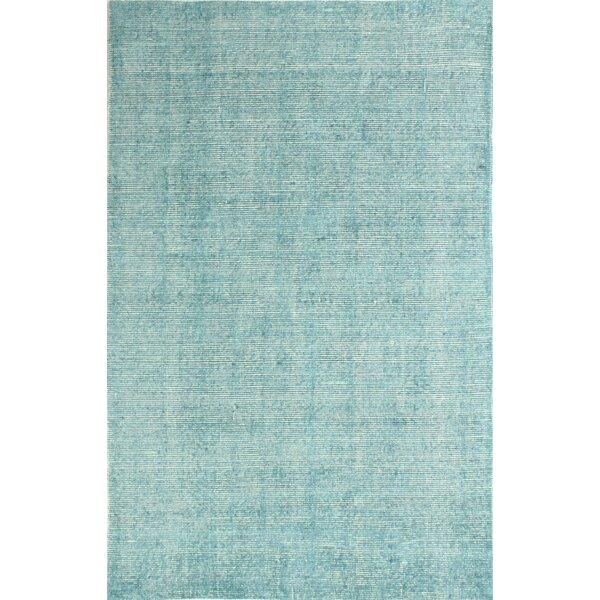 Draine Hand-Woven Cotton Teal Area Rug by Gracie Oaks