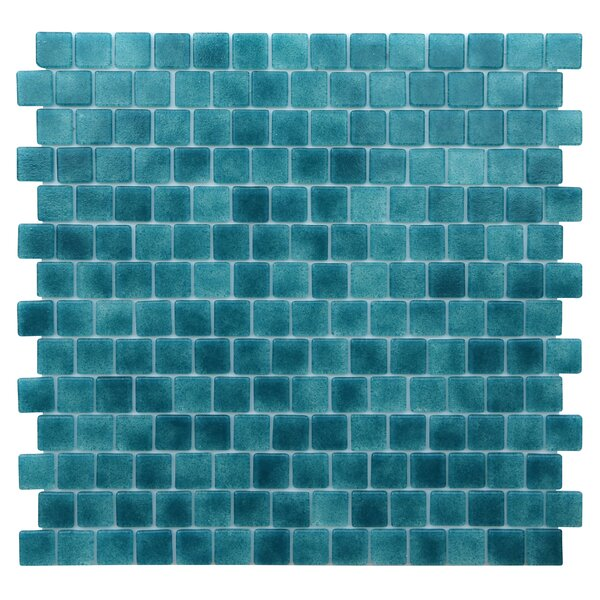Quartz 0.75 x 0.75 Glass Mosaic Tile in Turquoise/Blue by Kellani