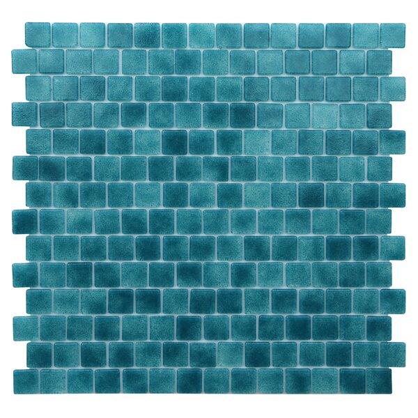 Quartz 0.75 x 0.75 Glass Mosaic Tile in Turquoise/Blue by Kellani