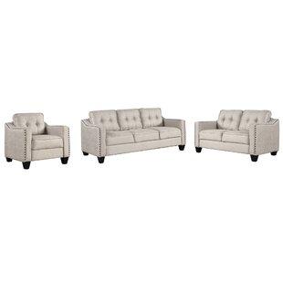 Bine 3 Piece Living Room Set by Red Barrel Studio®