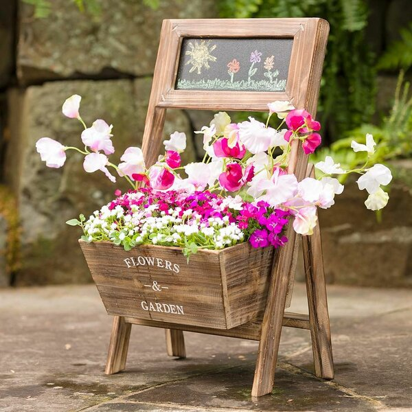 Chalkboard Garden Wood Planter Box by Magic Cabin