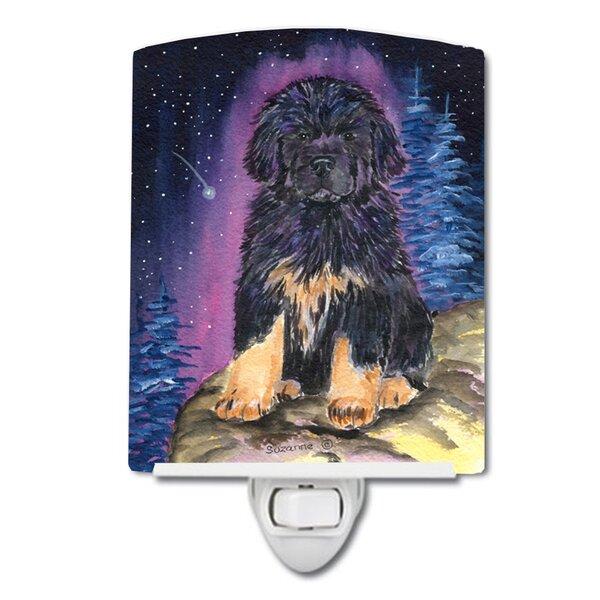 Starry Tibetan Mastiff Ceramic Night Light [Caroline s Treasures]