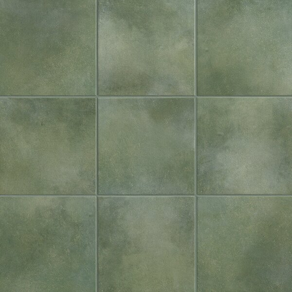 Poetic License 6 x 6 Porcelain Field Tile in Emerald by PIXL