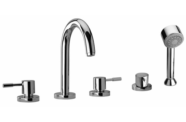 J16 Bath Series Double Handle Deck Mounted Roman Tub Faucet with Handshower by Jewel Faucets Jewel Faucets