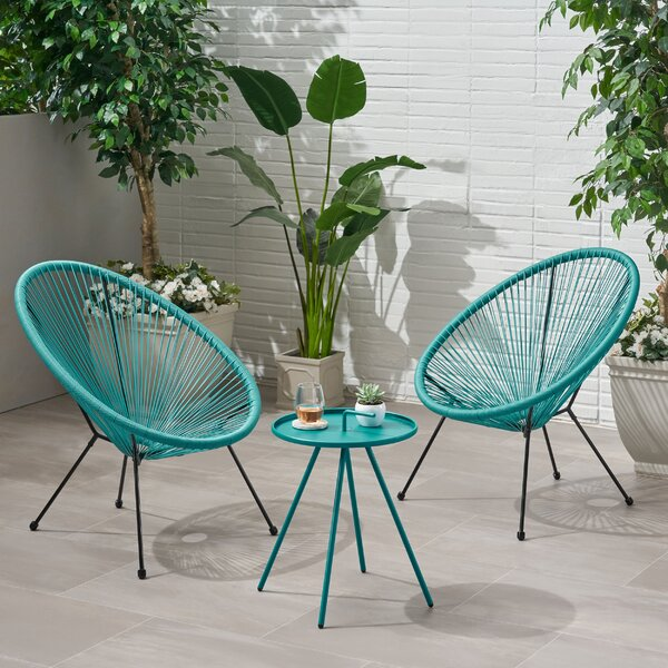 Joplin Outdoor Woven Rattan Seating Group by Wrought Studio