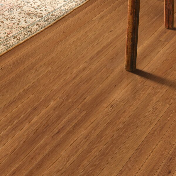 Revolutions 5'' x 51'' x 8mm Oak Laminate Flooring in Gunstock by Mannington
