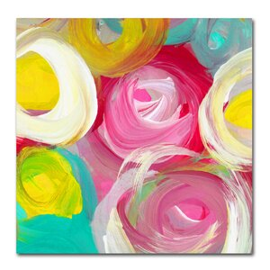Rose Garden Circles Square 2 by Amy Vangsgard Painting Print on Wrapped Canvas by Trademark Fine Art