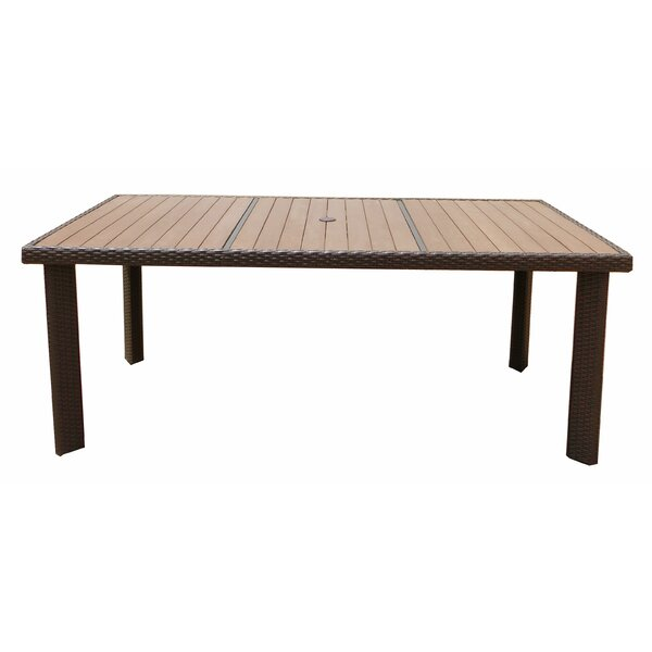 Tampa Manufactured Wood Dining Table by World Wide Wicker