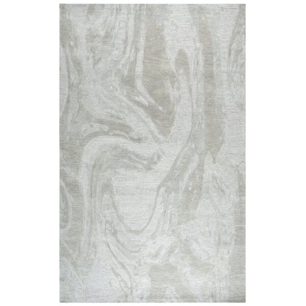 Etheredge Hand-Tufted Wool Gray Area Rug by Red Barrel Studio