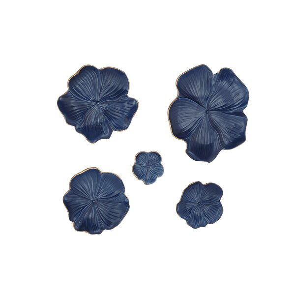 Bellefonte 5 Piece Ceramic Floral Wall Decor Set by Bay Isle Home