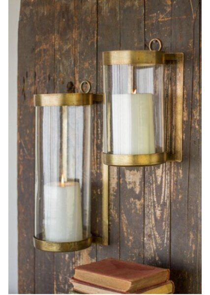 Glass/Metal Sconce by Bungalow Rose
