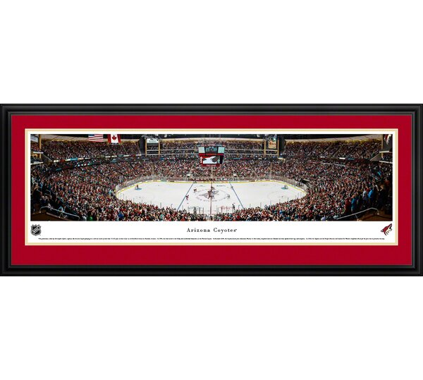 NHL Arizona Coyotes - Center Ice by Christopher Gjevre Framed Photographic Print by Blakeway Worldwide Panoramas, Inc