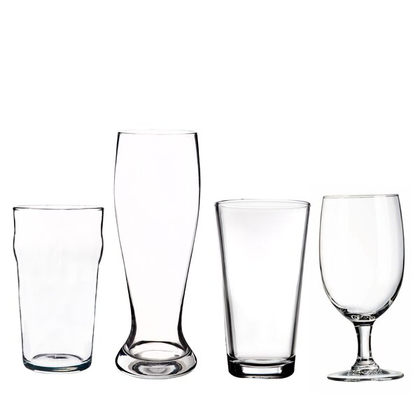 4 Piece Glass Assorted Glassware Set by Home Essentials and Beyond