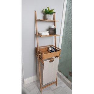 Bamboo Shelf Laundry Basket ByBEST LIVING INC