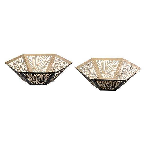 2 Piece Cream/Black Decorative Bowl Set by Bay Isle Home