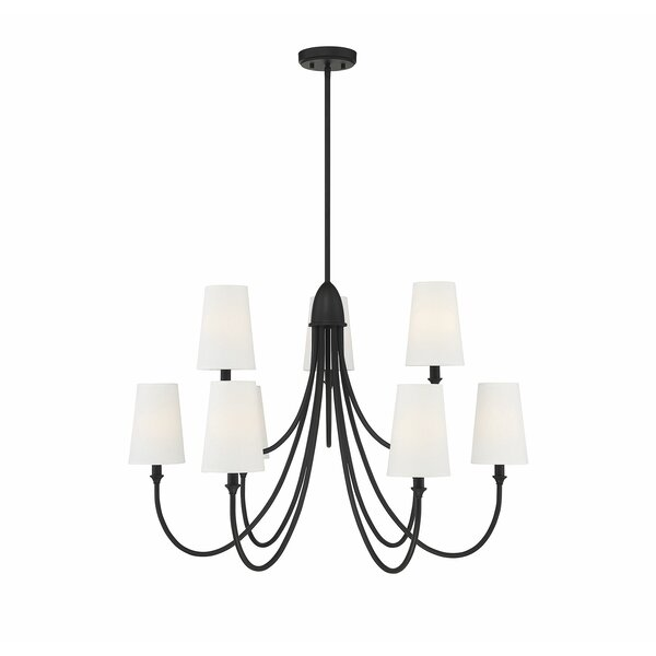 Rozalie 9 - Light Shaded Classic Chandelier by Winston Porter Winston Porter