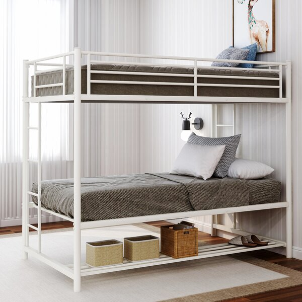 Heckson Twin over Twin Bunk Bed with Shelf by Isabelle & Max