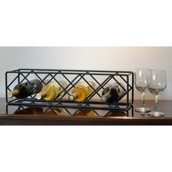4 Bottle Tabletop Wine Bottle Rack by J & J Wire J & J Wire