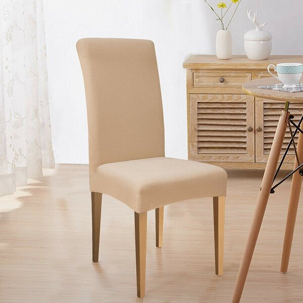 Box Cushion Dining Chair Slipcover (Set of 6) by subrtex