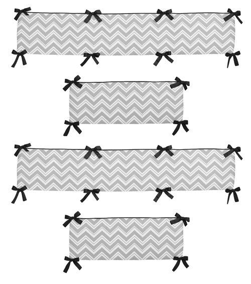 Zig Zag Crib Bumper by Sweet Jojo Designs