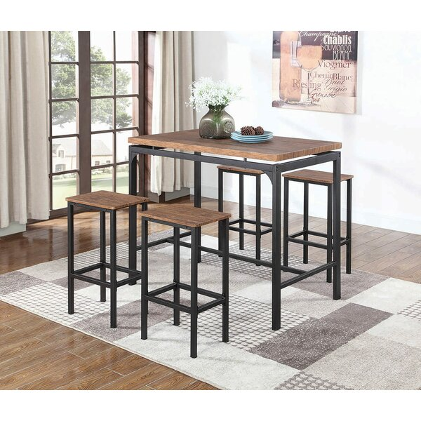 Rossa Weathered 5 Piece Counter Height Dining Set by Ebern Designs Ebern Designs