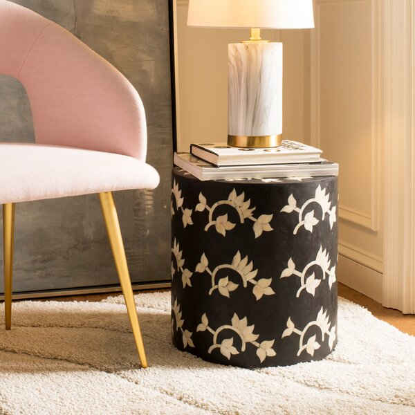 Barnard Bone Inlay Accent Stool by Bloomsbury Market
