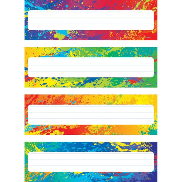 Splashy Colors Name Plates Variety Chart by Trend Enterprises