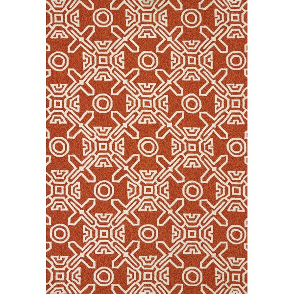 Maui Hand-Woven Terracotta Indoor/Outdoor Area Rug by Panama Jack Home