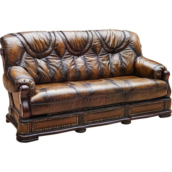 Read Reviews Gerdie Leather Sofa Bed 78