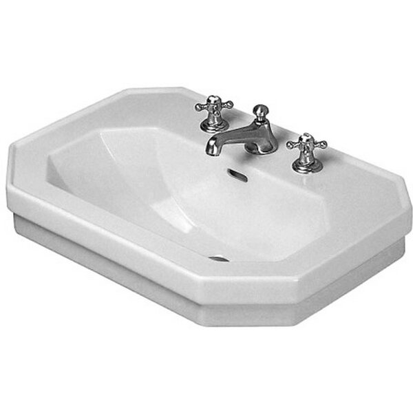 1930 Series Ceramic 24 Wall Mount Bathroom Sink with Overflow by Duravit