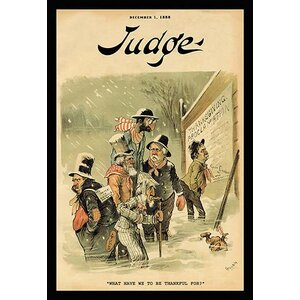 'Judge Magazine: What Have We to be Thankful For?' Vintage Advertisement by Buyenlarge