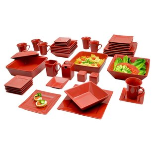 Corrina 45 Piece Square Dinnerware Set, Service for 6 ByZipcode Design