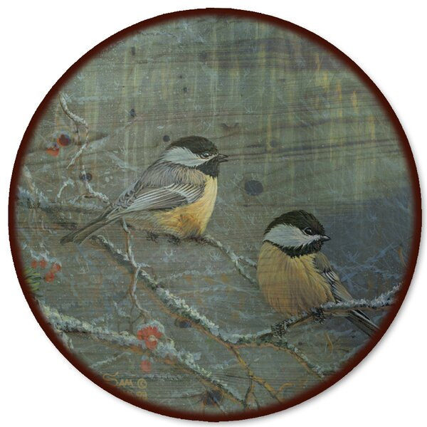Winter Breeze Chickadee Lazy Susan by WGI-GALLERY