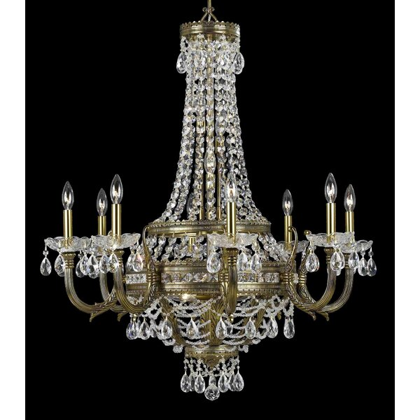 Contessa 18 - Light Candle Style Empire Chandelier By Classic Lighting
