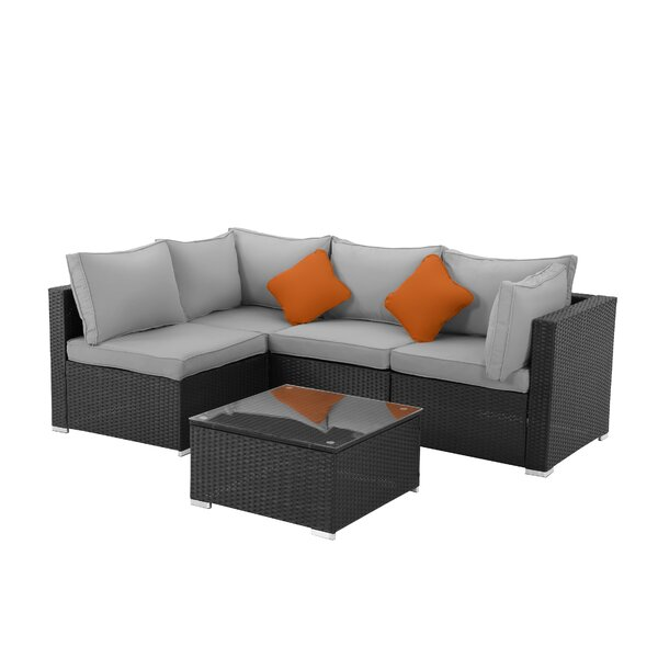 Odder 5 Pieces Rattan Sofa Seating Group with Cushions by Latitude Run Latitude Run