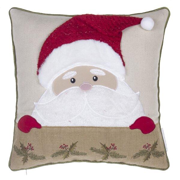 Santa Claus Throw Pillow by 14 Karat Home Inc.
